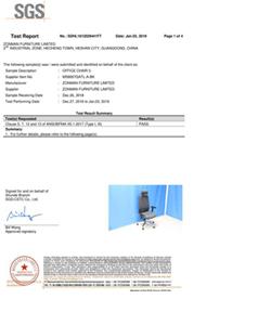 办公椅厂家-MS8007美国BIFMA测试报告